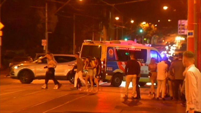 The chaotic scene after the shooting at a nightclub in Melbourne