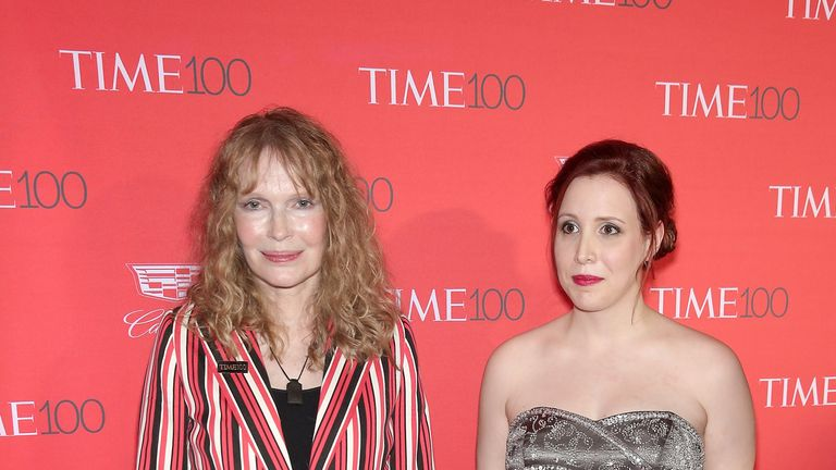 Mia Farrow (L) and Dylan Farrow