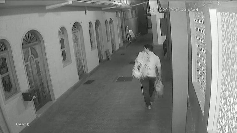 Mohammed Azar inside the Jami Us-Salam mosque in Batticaloa