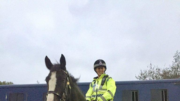 Lancashire Constabulary police horse Morecambe