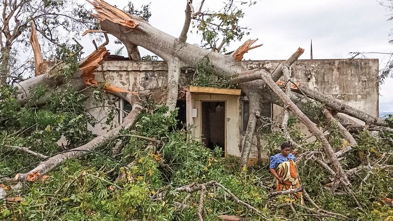 Many homes have been destroyed or left badly damaged
