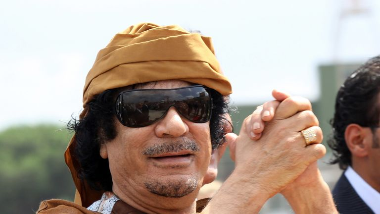 Muammar Gaddafi  was toppled in 2011