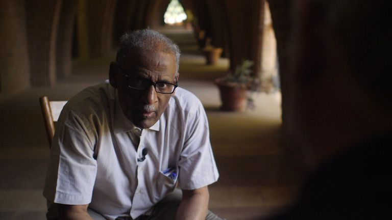 Professor Muhammad Yousif at the University of Khartoum