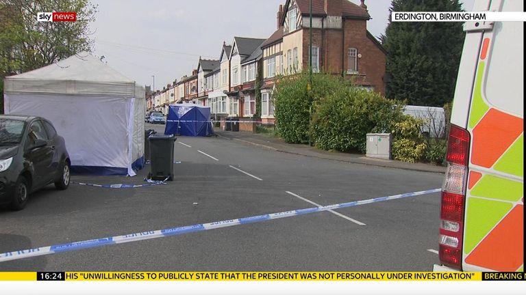 The shooting happened on Church Road, Erdington