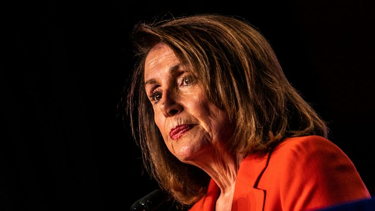 House Speaker Nancy Pelosi addresses the North America's Building Trades Unions (NABTU) 2019 legislative conference in Washington