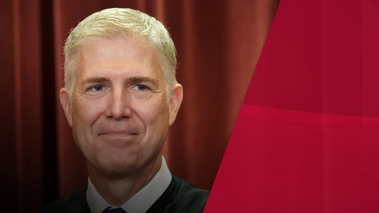 US Supreme Court judge Neil Gorsuch