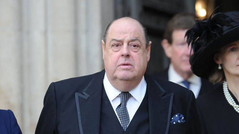 LONDON, ENGLAND - NOVEMBER 20:  Nicholas Soames attends a service of thanksgiving for Lady Soames at Westminster Abbey on November 20, 2014 in London, England.  (Photo by Stuart C. Wilson/Getty Images)