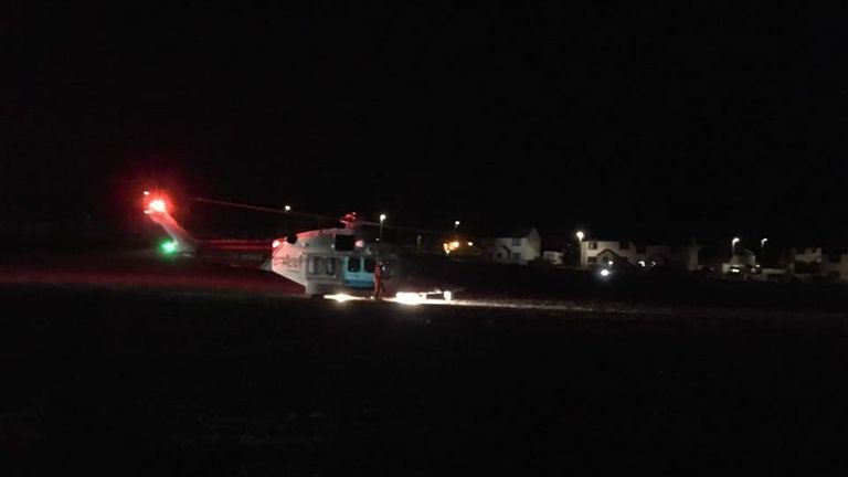The operation took place in the early hours. Pic: North Berwick Coastguard Rescue Team