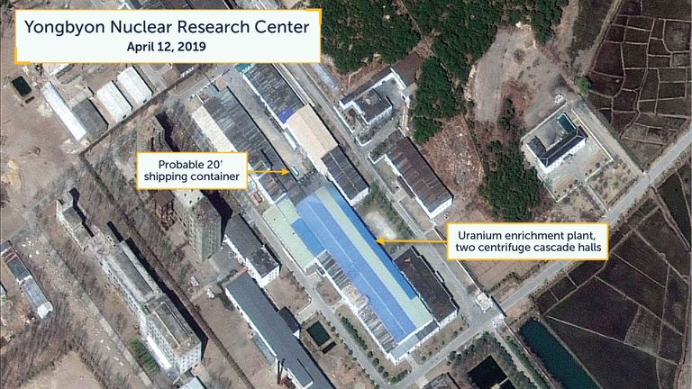 Researchers of Beyond Parallel think this is a 20-foot shipping container near the uranium enrichment plant