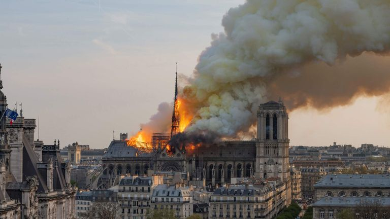 'Short circuit' most likely cause of Notre-Dame fire - police