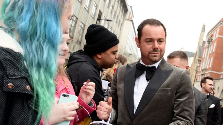 Danny Dyer on the red carpet ahead of the Olivier Awards