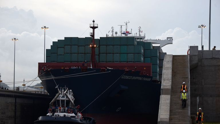 An expansion project to pave a route for larger cargo ships was completed in 2016