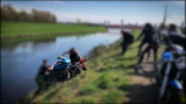 Motorbike anti-theft group