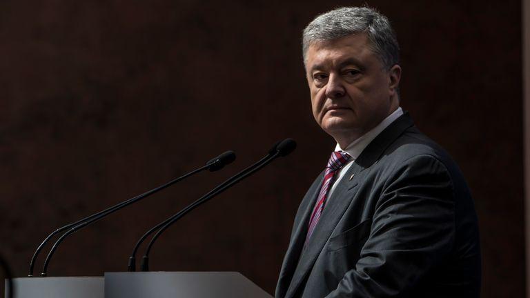 Incumbent Ukrainian President Petro Poroshenko