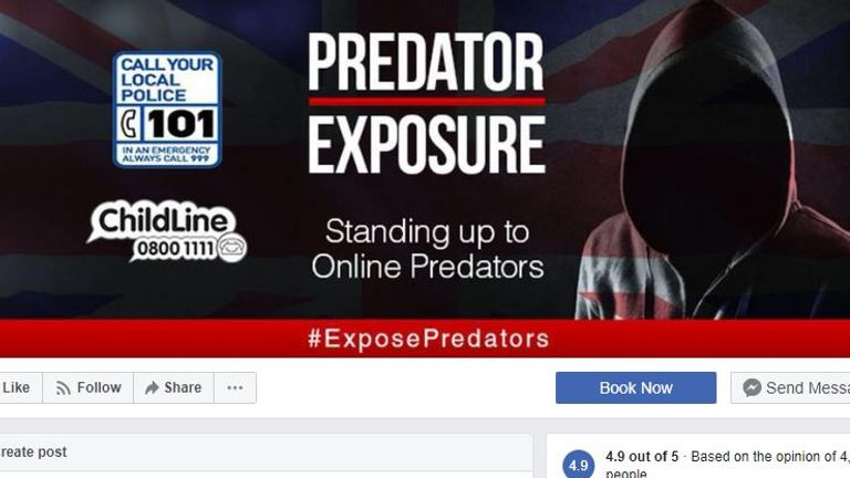 Members of the group Predator Exposure appeared in court. Pic: Facebook