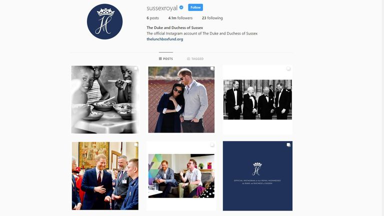 Prince Harry and Meghan are the fastest to hit one million Instagram followers