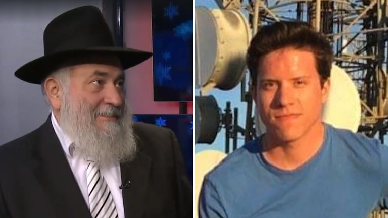 Rabbi Yisroel Goldstein (pic Fox 5) and suspect John Earnest