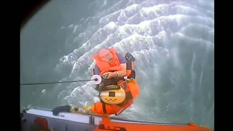 Crew rescued from sinking vessel