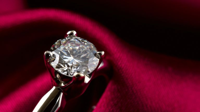 The ring contains a jewel from the crown of France's last empress. File pic