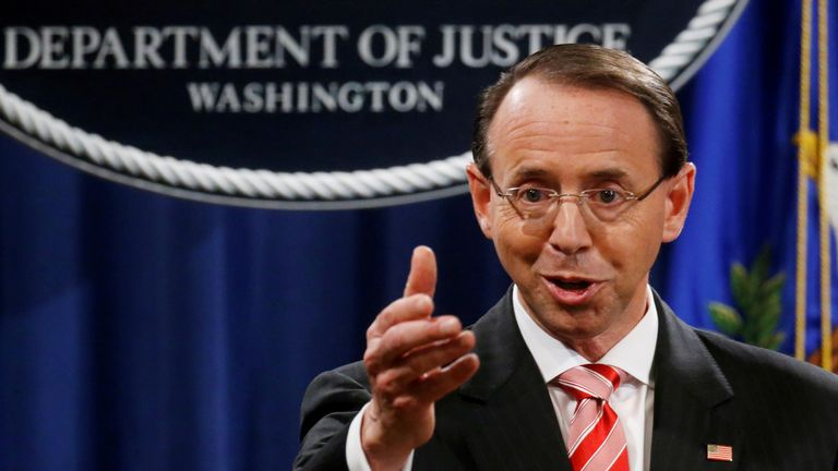 General Rod Rosenstein has resigned as deputy US attorney general