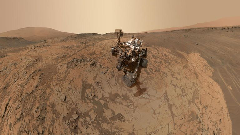 The Curiosity Rover detected the gas in 2013