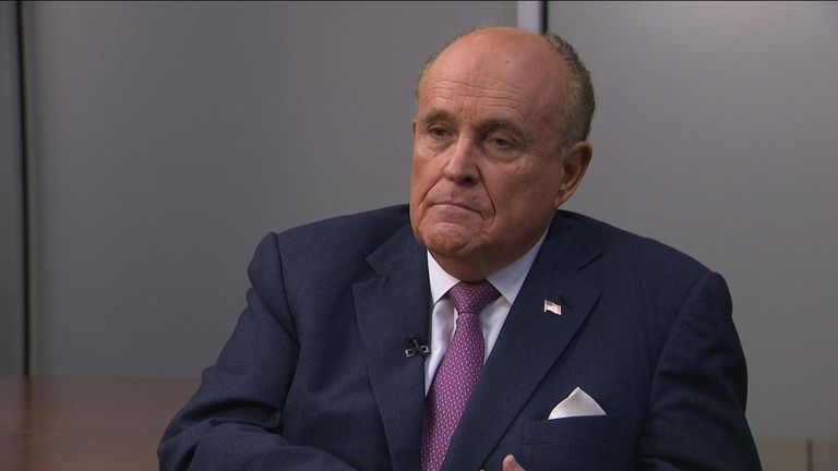 Rudy Giuliani speaks to sky news.