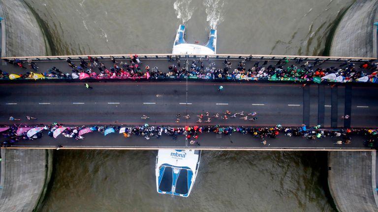 Runners on Tower Bridge