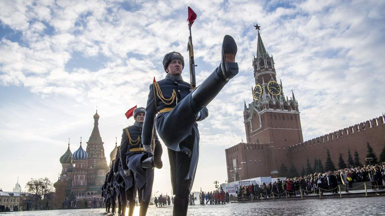 Russian honour guards