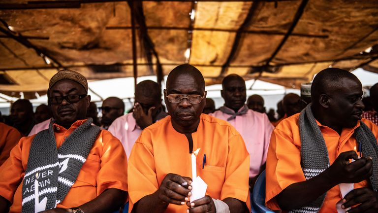Prisoners were allowed to take part in the commemorations in Kigali