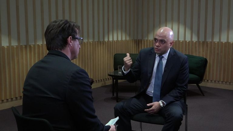Sajid Javid told Sky News he was shocked by the Christchurch live-stream