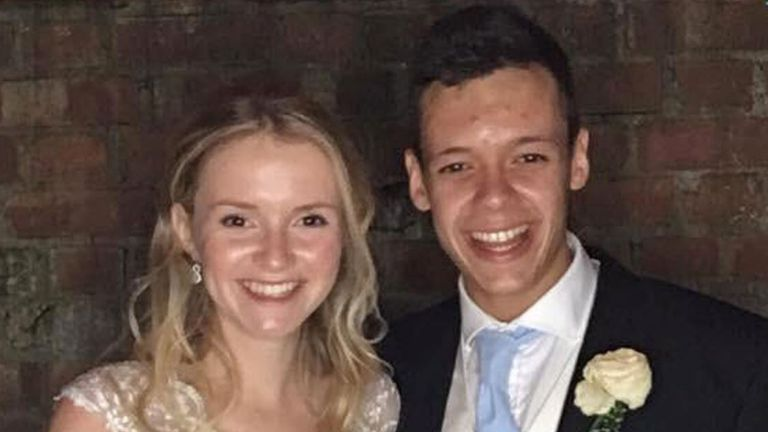 In a tribute, Milly's father said the couple were married in 2017 and were 'utterly devoted to one another'