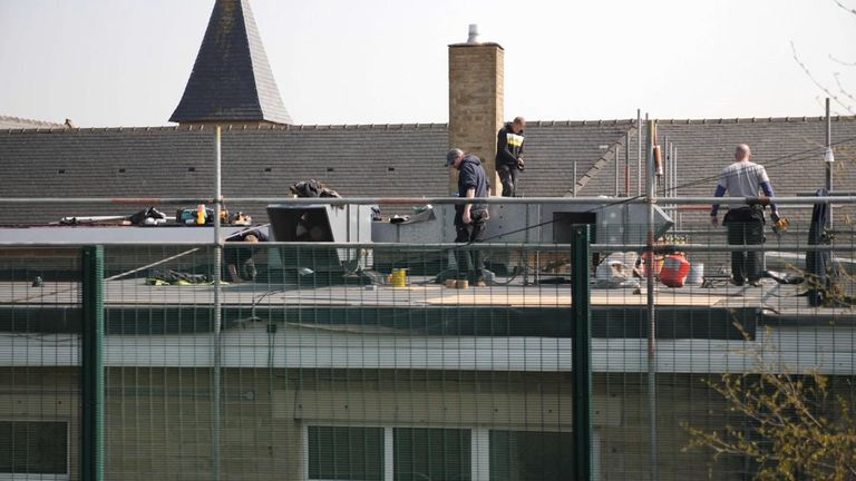 Work on the roof should be done by the start of term