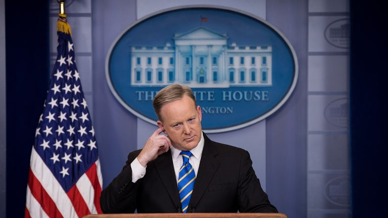 Sean Spicer repeated the claims on behalf of the White House