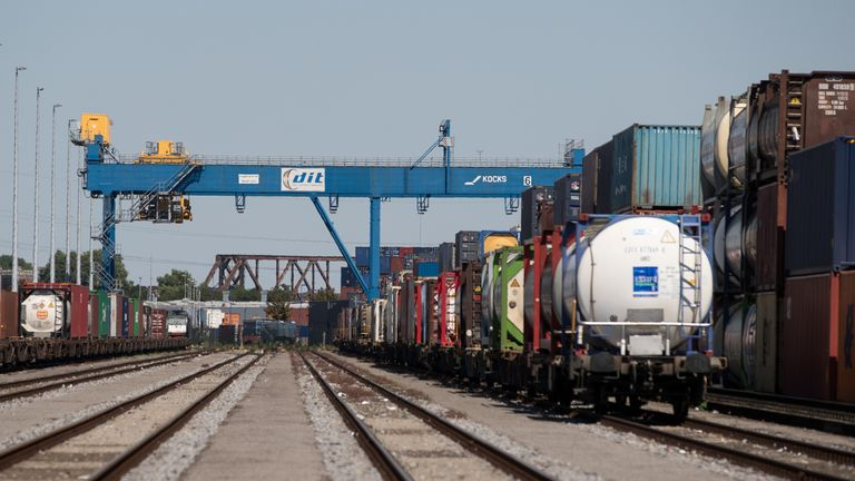 A German rail terminal at the end of the new Silk Road