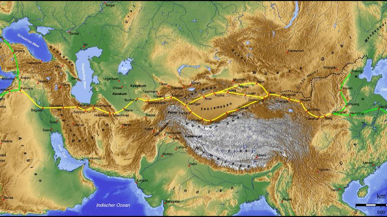 The Silk Road. Pic: Wikicommons/Kelvin Case