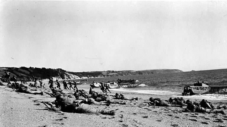 US troops landing on Slapton Sands during Exercise Tiger. Pic: Wikicommons