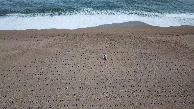 A memorial on Slapton Sands, Devon, to those who died in Exercise Tiger