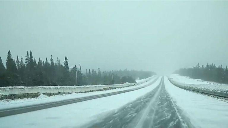 Snowstorm in Quebec