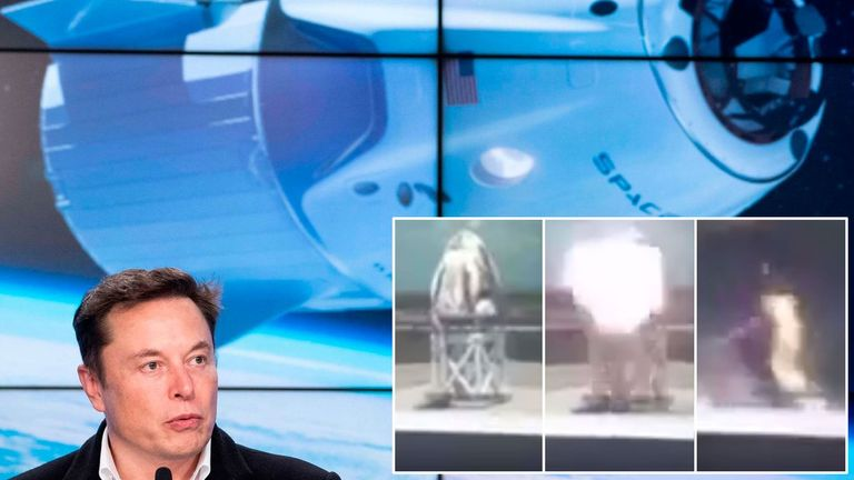 SpaceX's 'Dragon' capsule and 'Dragon' appeared to explode in video. Pick: @ Astronut099