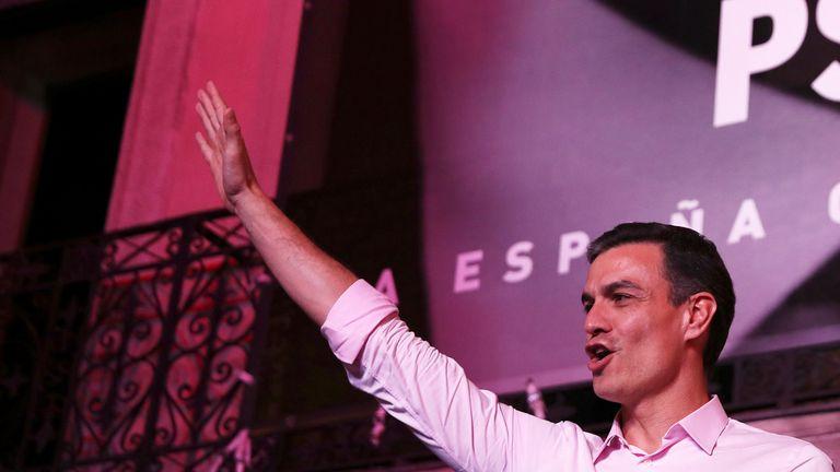 Spanish Prime Minister Pedro Sanchez celebrated the result in Madrid