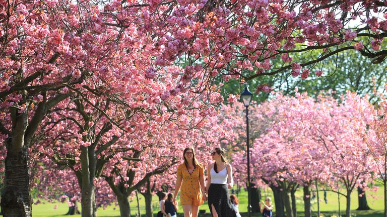 It has been the hottest Easter Sunday on record for three of the four nations in the UK