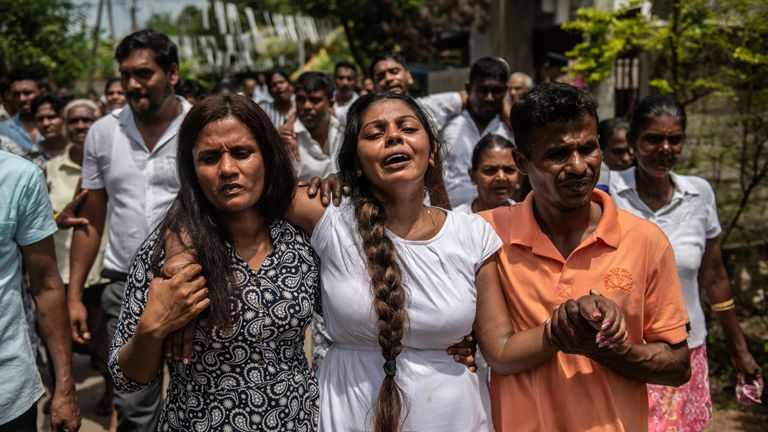 Funerals held for victims of Sri Lanka attacks