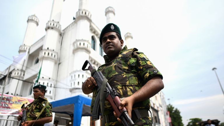 There was an increased security presence throughout the capital Colombo on Friday