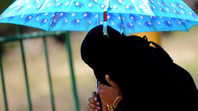 A Sri Lankan woman wearing a hijab. File pic