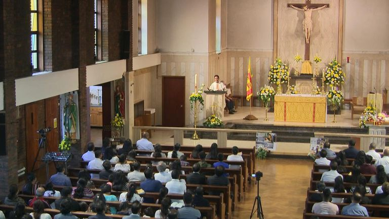 A vigil has taken place for the Sri Lankan terror attack victims at St Mary Magdalen Church in Willesden.