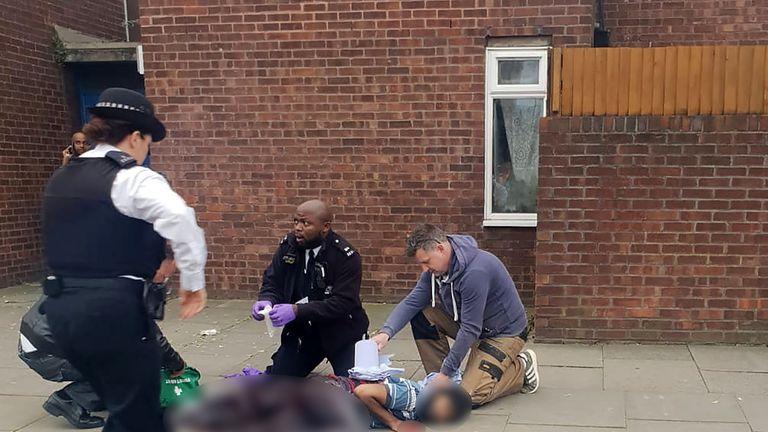 Brettenham Road stab victim