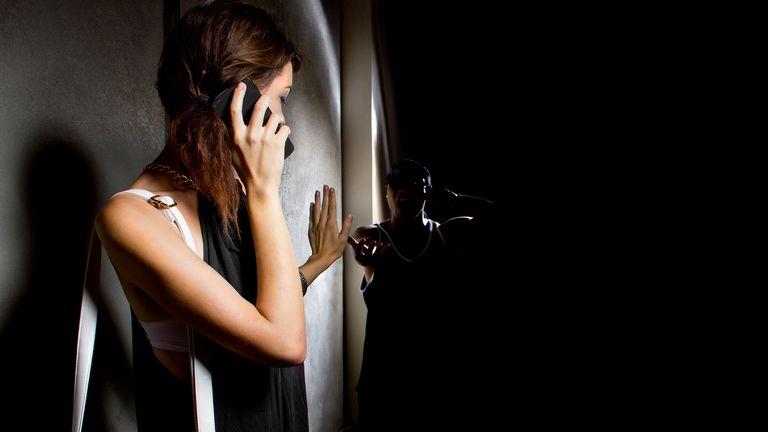 Woman calling 999