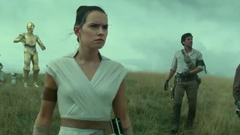 Daisy Ridley stars as Rey in Star Wars: Episode IX, the last film in the sequel trilogy. Pic: Lucas Films