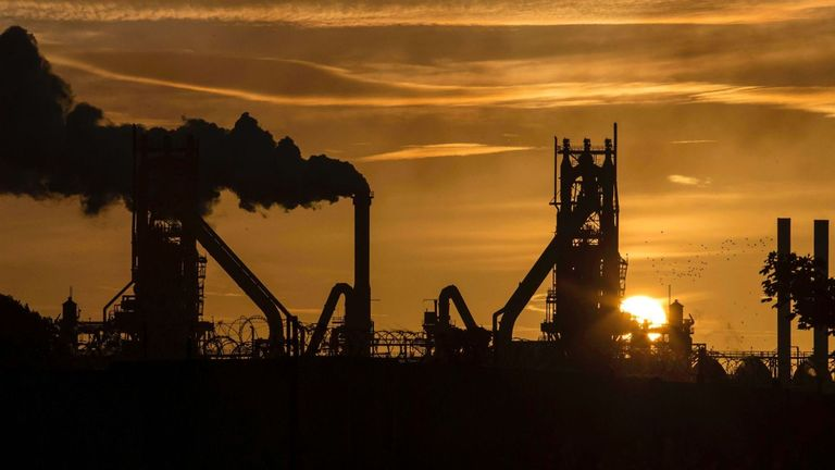 British Steel plant in Scunthorpe
