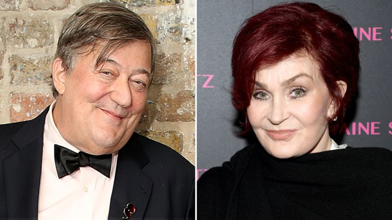 Stephen Fry and Sharon Osbourne